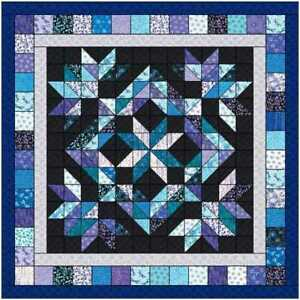 Quilt Kit Midnight Reflections Queen/Precut Ready to Sew!!