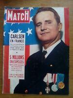 PARIS MATCH N°165 1952 CARLSEN EN FRANCE - NAUFRAGE DU HORSON - SANDERS KIDNAPPE