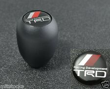 SANDBLASTING BLACK MANUAL SEQUENTIAL GEAR SHIFT KNOB TRD EMBLEM FOR TOYOTA