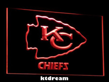 7 COLORS Kansas City Chiefs LED Neon Light Sign Display NFL Fan Home Decor Gift