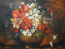 Ölgemälde Bouquet Gemälde Öl Leinwand Stilleben Blumen Floral Antik Stil Bukett