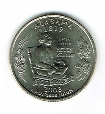 2003-P Brilliant Uncirculated Alabama 22TH State Quarter Coin!