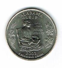 2003-P Brilliant Uncirculated Alabama 22TH State Quarter Coin!