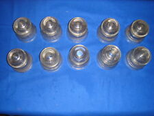 LOT OF 10 INSULATOR GLASS DOMINION 42 CANADA