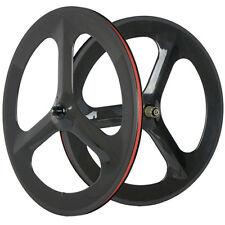 700 Carbon Tri Spoke Wheel Road Bike Carbon Wheelset 3 Spoke Bicycle Wheels