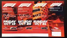 2018 United States Formula 1 Grand Prix Souviver Weekend Tickets, Austin, Texas