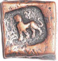 Ancient India Gandhara Pushkalavati 1 1/2 Karshapana Local Civic Coin 185 BC
