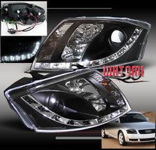 99-07 AUDI TT DRL R8-LED PROJECTOR HEADLIGHT LAMP BLACK