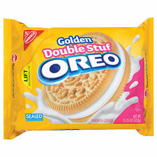 NEW GOLDEN DOUBLE STUF OREO SANDWICH COOKIES 15.25 OZ FREE WORLDWIDE SHIPPING