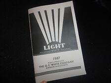 O.C.White Lamp Catalog Adjustable Light Work Machine Industrial Drafting Antique