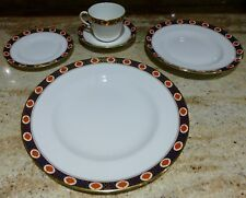 5 PIECE SEVICE FOR 1 - ROYAL CROWN DERBY - AMBASSADOR - 1984 - ENGLISH CHINA
