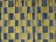 SANDERSON CURTAIN/UPHOLSTERY FABRIC  Laszlo 3.55 METRE BLUE & SILVER CUT VELVET
