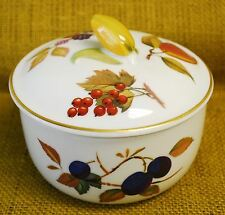 Royal Worcester EVESHAM GOLD Porcelain Butter Tub & Lid Corn Finial Red Berries