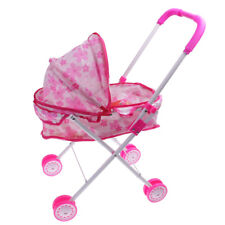 Baby Doll W/ Stroller Buggy Girls Junior Toy Foldable Pushchair Kids Toys