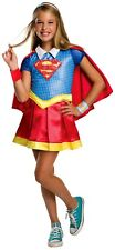 Child SUPERGIRL DELUXE Superhero Fancy Dress Costume Age 8-10-NO BLUE WRIST BAND