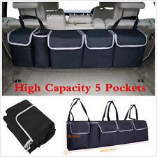 New 5 Pockets Multi-use Car Trunk Backseat Storage Bag Organizer High Capacity