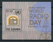 Gambia 2013 MNH UN United Nations World Radio Day 1v S/S Technology Stamps