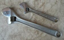 """2 x Vintage Crescent Tool Co. 8 / 12 inch adjustable wrench / shifter - 8"""" / 12"""""""
