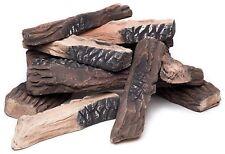 Regal Flame 10 Piece Ceramic Fiber Propane Gel Ethanol or Gas Fireplace Log Set