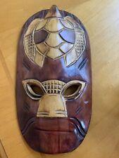 Nice Hand Crafted Wood Hawaiian Style Wall Decor Mask!