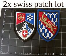 Swiss ALP cross shield woven jacket patch crest mountain climbing ski crest sew