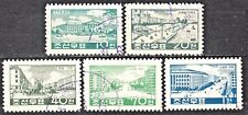 KOREA 1960 used SC#220/24  set, Views of rebuit Pyongyang.