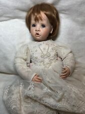 "17"" Hildegard Gunzel Artist Original Porcelain & Cloth 1996 Baby Girl Doll #B"