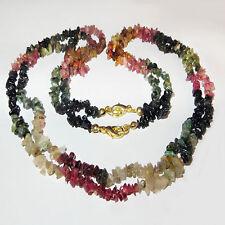 Handgefertigt Echte Edelstein-Halsketten & -Anhänger mit Turmalin für Damen