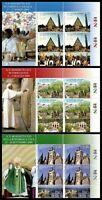 Vaticano - 2010 - I viaggi di papa Benedetto - BF n.97/99 -  nuovi  MNH
