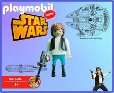 PLAYMOBIL Star Wars Han Solo 100% Playmobil Pieces NUEVO / NEW - No Box Sin Caja