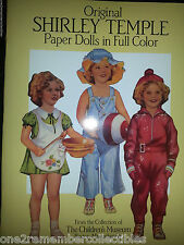 Original 1988 SHIRLEY TEMPLE PAPER DOLLS IN FULL COLOR Childrens Museum VINTAGE