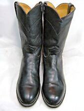 Justin Roper Mens Cowboy Boots 3133  Size 8.5 D Black Leather   #58 OB