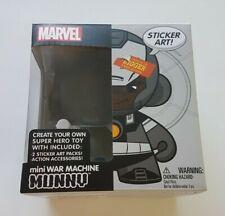 Kidrobot Marvel Munny Mini War Machine Create Your Own Super Hero Toy Stickers