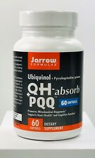 Jarrow Formulas Ubiquinol QH Absorb + PQQ Heart Health 60 Softgels Exp 1/2021