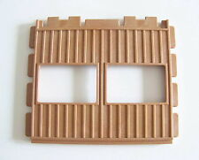 """Vtg PLAYMOBIL Tan Wide /""""Wood/"""" Open Wall 3176121 TO 4305 3436 3554 3769 3770 3775"""