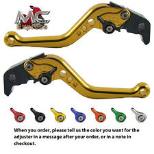 MC Short Adjustable CNC Levers Kawasaki Z1000SX NINJA 1000 Tourer 2011-2015 Gold