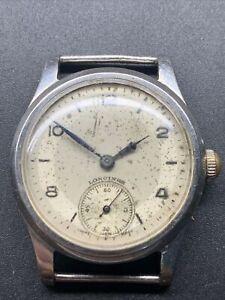 1947 SS Longines Manual wind 12.68z wristwatch Spares Repair