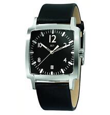 Sportliche Armbanduhren mit Armband aus echtem Leder und Mineralglas