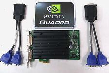 PCIE X1 Quad Display Graphics Card Nvidia Quadro NVS440 256MB VCQ440NVS-X1-N