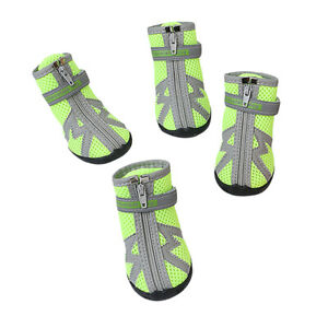 4PCS Air Mesh Lightweight Breathable Fashion Pet Dog Summer Shoes Boots Booties