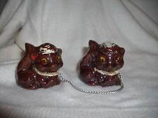 """2"" Ceramic Squirrels Attached With Chains"