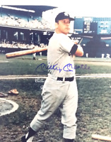 HOF Mickey Mantle NY Yankees MLB Autographed 8x10 Photo wCOA (BB-206-B)