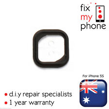 Black Home Button Rubber with Adhesive OEM for iPhone 5S