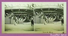 VUE STÉRÉO SUR VERRE : NANCY, FOIRE DE NANCY, FÊTE FORAINE, MANÈGE, 1900 -Réf19