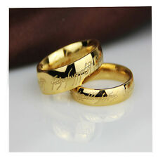 Men's Lord of the Rings The One Ring Lotr Titanium Steel Fashion Ring Size 6-12