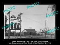 OLD HISTORIC PHOTO OF Mt HAWTHORN WEST AUSTRALIA, PLUME OIL PETROL STATION 1930