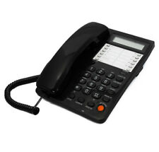 Blue Donuts BD-099BLK-Black Caller ID Phone for wall or desk with Speaker and Me