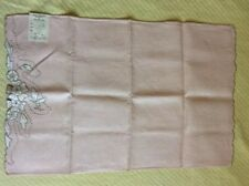 Vintage Irish Embroidery Linen Table Placemat No.146