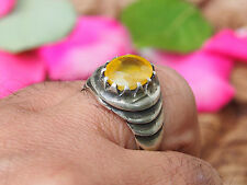 antik orient silber Afghanistan Gelb Achat statement ring YELLOW AQEEQ Nr:17/460