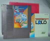 Adventures Of Lolo Cartridge Manual Case NES Nintendo Game Authentic Tested Good